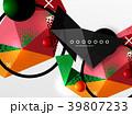 ジオメトリック 幾何学的 背景のイラスト 39807233