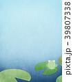 背景-和紙-水色-カエル 39807338