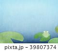 背景-和紙-水色-カエル 39807374