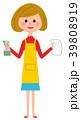 主婦 女性 エプロンのイラスト 39808919