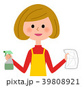 主婦 女性 エプロンのイラスト 39808921