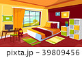 寝室 空間 部屋のイラスト 39809456