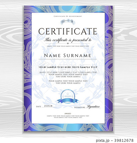 certificate diploma golden design templateのイラスト素材 39812678