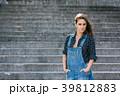 Beautiful Portrait Of Pretty Young Caucasian Woman 39812883