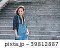 Beautiful Portrait Of Pretty Young Caucasian Woman 39812887