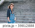 Beautiful Portrait Of Pretty Young Caucasian Woman 39812888