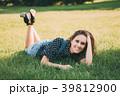 Summer Portrait Of Pretty Young Caucasian Woman 39812900