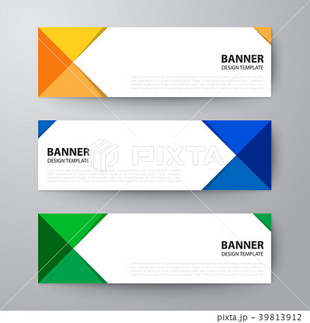 banners web design template abstract backgroundのイラスト素材