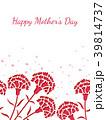 母の日 カーネーション 花のイラスト 39814737