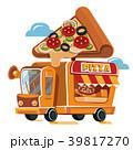 ピザ ピッツァ トラックのイラスト 39817270