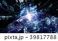 テクノロジー アブストラクト グローバルのイラスト 39817788