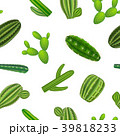 Realistic Green Cactus Plants Seamless Pattern 39818233