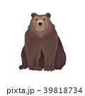 褐色 動物 くまのイラスト 39818734