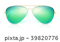 Realistic sunglasses, classic shape in fine gold 39820776