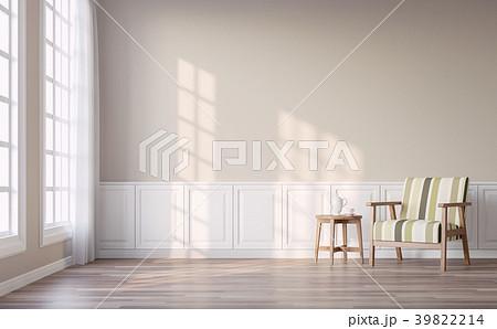Modern vintage living room 3d render 39822214