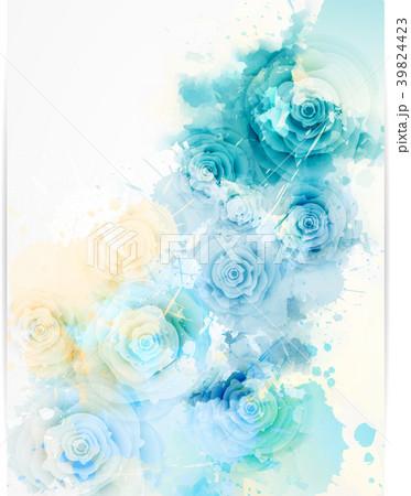 floral invitation wedding template のイラスト素材 39824423 pixta