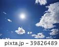 太陽と雲のバックグラウンド 39826489