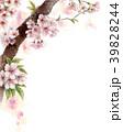 水彩で描いた桜の枝に咲く花 39828244