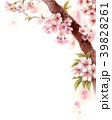 水彩で描いた桜の枝に咲く花 39828261
