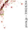 水彩で描いた桜の枝に咲く花 39828264