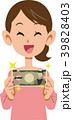 女性 紙幣 お金のイラスト 39828403