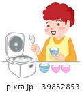 主婦 ご飯 女性のイラスト 39832853