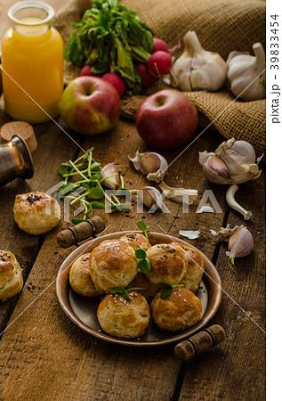 Cheese mini buns from domestic dough 39833454
