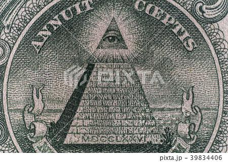 1ドル紙幣 ピラミッド 39834406