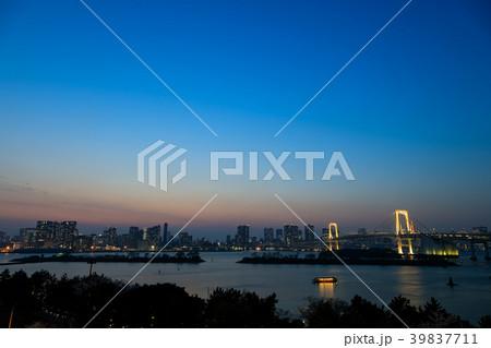 [東京都] 都内 夕陽 夕暮れ 39837711