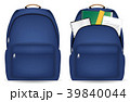 close and open student bag with study object 39840044