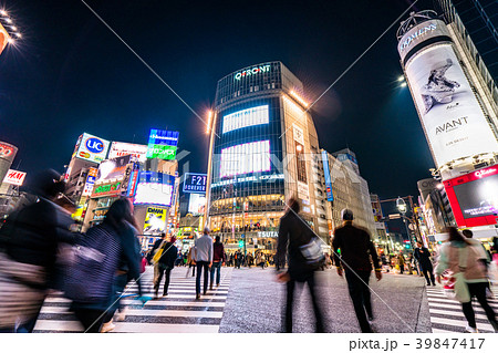 《東京都》渋谷駅前・スクランブル交差点 39847417