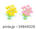 チューリップ 花 ベクターのイラスト 39849326