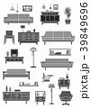 家具 インテリア アイコンのイラスト 39849696