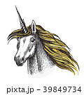ユニコーン 馬 動物のイラスト 39849734