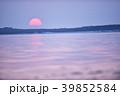 夕日 海 野付半島の写真 39852584