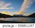 湖 自然 夕焼けの写真 39861197
