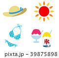 夏 アイコン セットのイラスト 39875898