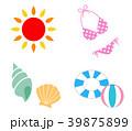 夏 アイコン セットのイラスト 39875899