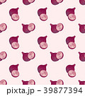 赤い 玉葱 シームレスのイラスト 39877394