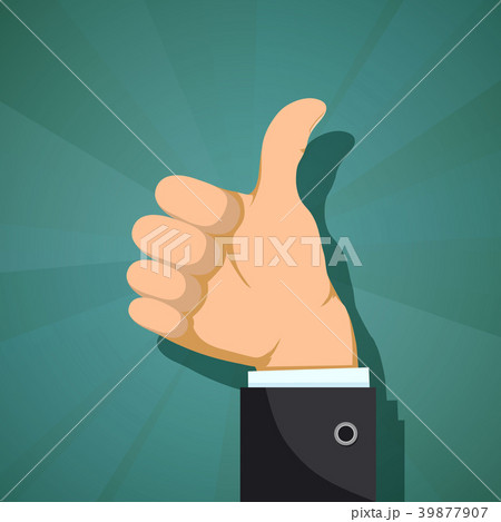Human hand with thumb up. 39877907