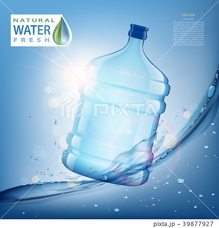 bottle with clean, fresh water 39877927