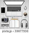 PC ノートパソコン ビジネスのイラスト 39877930