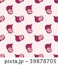 赤い 玉葱 シームレスのイラスト 39878705