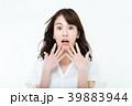 女性 驚き 驚くの写真 39883944