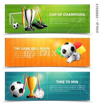 Soccer Horizontal Banners 39886914