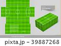 ボックスティッシュ ティッシュボックス ティッシューボックスのイラスト 39887268