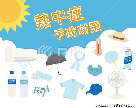 熱中症予防対策 ポスター 39887316