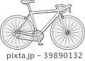 自転車 ロードレーサー 線画のイラスト 39890132