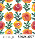Bright floral seamless design with watercolor 39891657