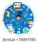 プログラミング教育 子供 男の子のイラスト 39897085
